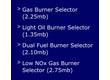 Riello Burner Selector