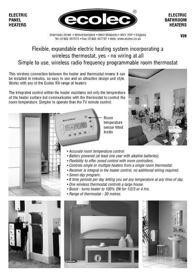kick space wireless control stainless steel heaters ecolec wireless electric heating system