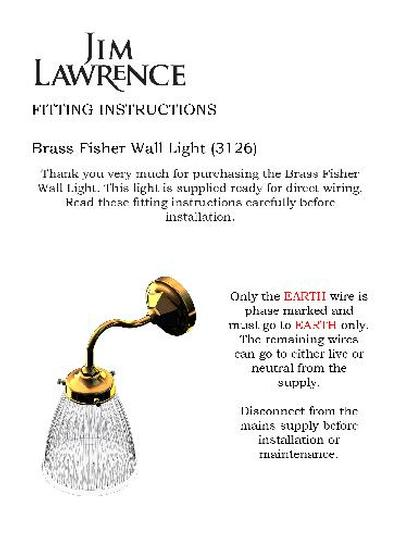 Wall Light Fitting Instructions : Jim Lawrence Traditional Ironwork ESI Interior Design