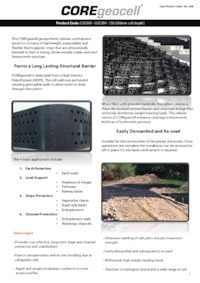 Coregeocell geosynthetic cellular confinement system - Core landscape products ...