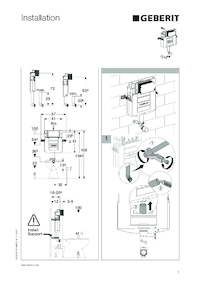 geberit toilet flush instructions