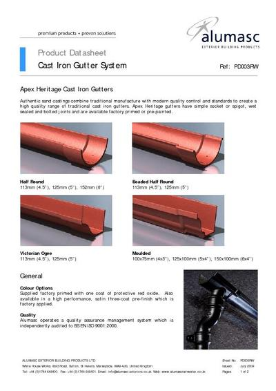 Apex Heritage Traditional Cast Iron Gutters Alumasc
