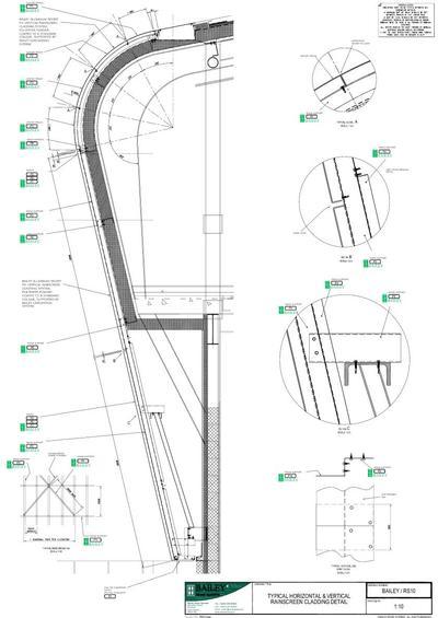 Aluminum Cladding Details : Bailey aluminium rainscreen cladding system esi