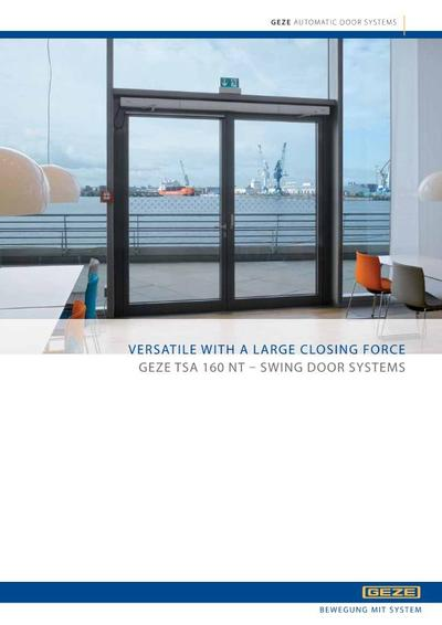 tsa 160 nt automatic swing door control system geze uk esi building design. Black Bedroom Furniture Sets. Home Design Ideas
