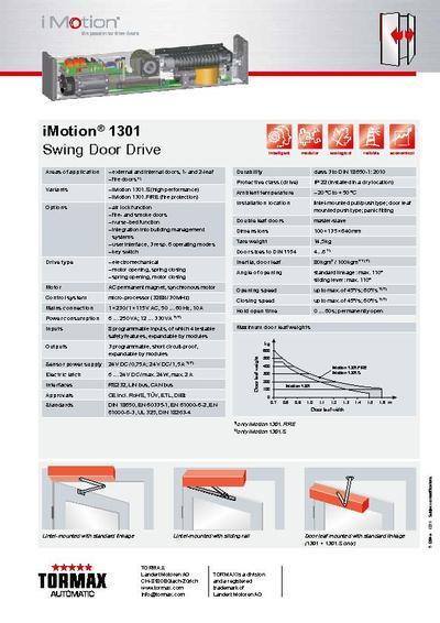 tormax smart drive 1101 installation manual