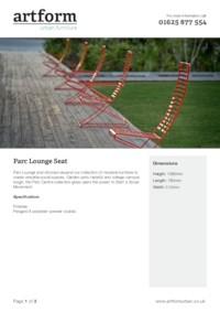 Parc Lounge Chair Artform Urban Furniture ESI Interior