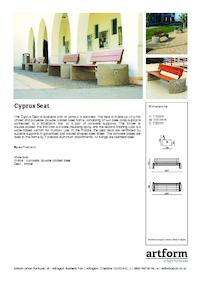 cyprus seat artform urban furniture esi external works. Black Bedroom Furniture Sets. Home Design Ideas