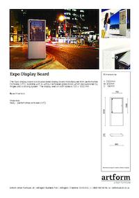 expo display case artform urban furniture esi external. Black Bedroom Furniture Sets. Home Design Ideas