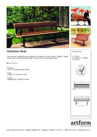 gretchen seat artform urban furniture esi external works. Black Bedroom Furniture Sets. Home Design Ideas