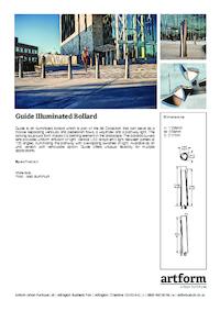 guide illuminated bollard artform urban furniture esi. Black Bedroom Furniture Sets. Home Design Ideas