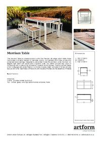 morrison table artform urban furniture esi external works. Black Bedroom Furniture Sets. Home Design Ideas