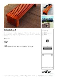 palisade bench artform urban furniture esi external works. Black Bedroom Furniture Sets. Home Design Ideas