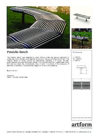 presidio seating artform urban furniture esi external. Black Bedroom Furniture Sets. Home Design Ideas