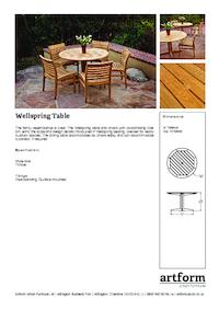 wellspring table artform urban furniture esi external. Black Bedroom Furniture Sets. Home Design Ideas