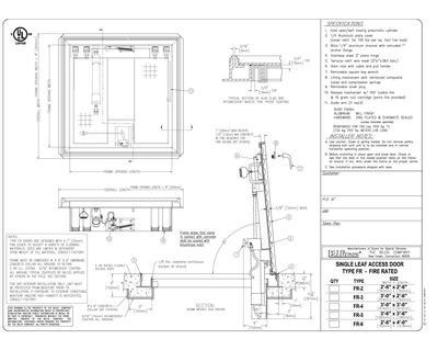 Type fr fire rated floor doors bilco uk esi building for Fire door design uk