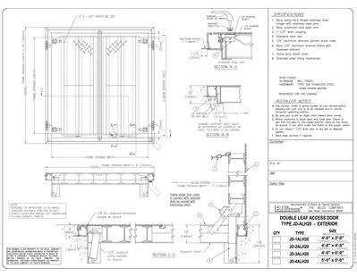Type Jdal H20 Aluminium Double Leaf Floor Door Bilco Uk