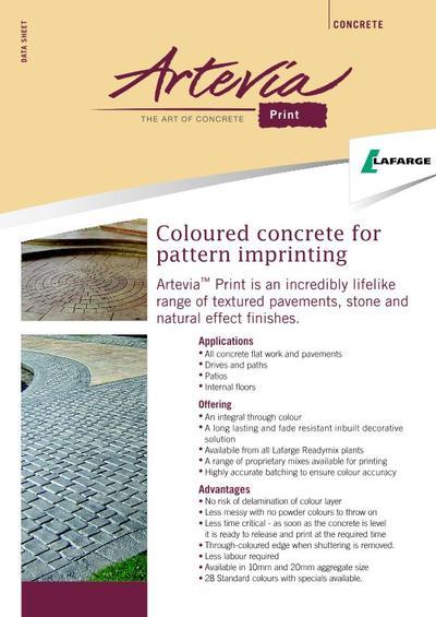 artevia coloured concrete lafarge aggregates esi. Black Bedroom Furniture Sets. Home Design Ideas
