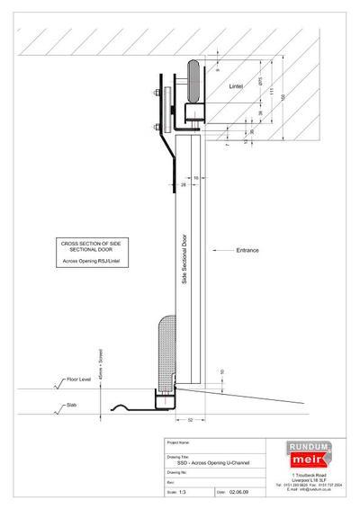 Sectional Garage Door Construction Details : Side sectional sliding garage doors rundum meir esi