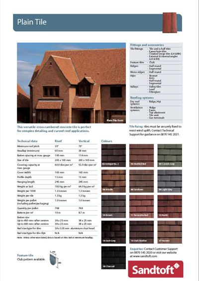 Plain Tile Concrete Roof Tiles Sandtoft Roof Tiles Esi
