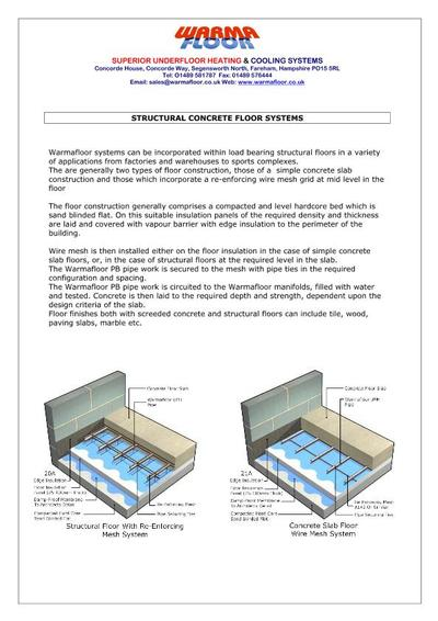 Structural Concrete Systems : Underfloor heating structural concrete floors