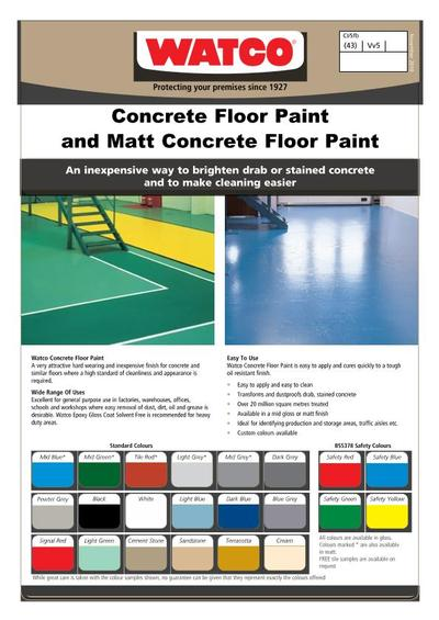 Concrete Floor Paint Fast Drying Mid Gloss Coating