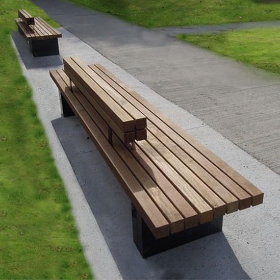 Modus Furniture Urban Seating Storage Bench Natural Linen: ESI External Works