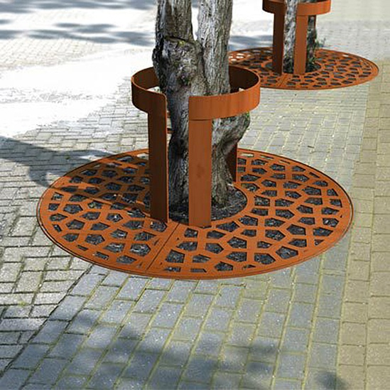 corten tree guards streetlife esi external works. Black Bedroom Furniture Sets. Home Design Ideas