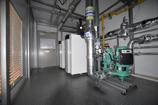 CAS LTHW twin pump pressurisation unit