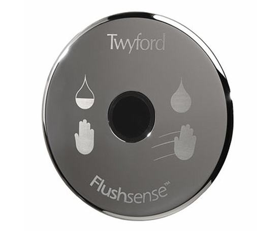 Flushsense infra red sensor dual flush chrome plated