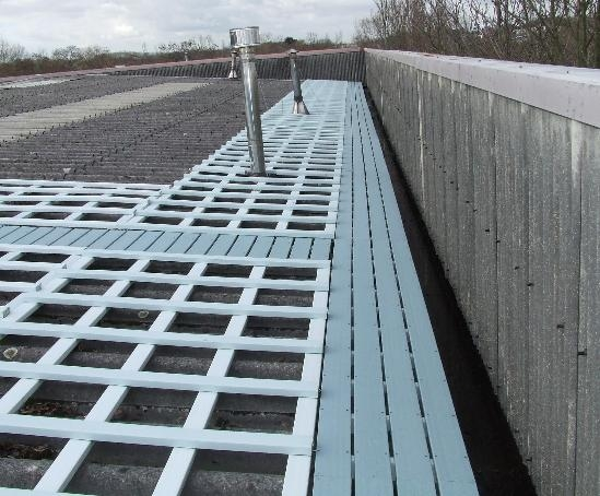 Flexideck roof access walkway system | Safetyworks