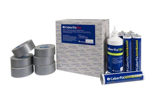 Complete fixing and sealing system for chipboard floors