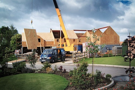 OSB timber frame roof walling
