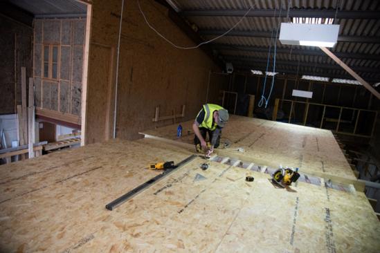 Installing CaberFloor P5 for the floors