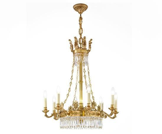 Cheltenham eight-light chandelier