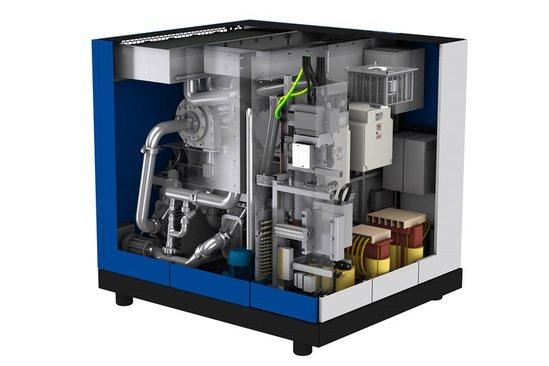 HSR turbocompressor cutaway drawing