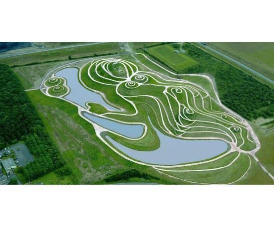 Seeding/hydroseeding, earth sculpture, Northumberlandia
