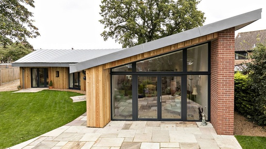 Bungalow built to Passivhaus standards