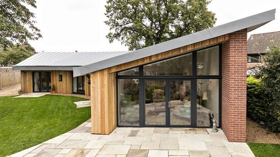 Bungalow built to Passivhaus standards