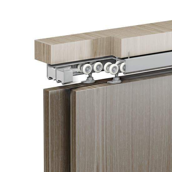 Soffit fix double timber door example