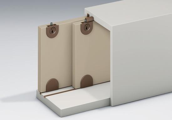 Series Mini sliding door system example