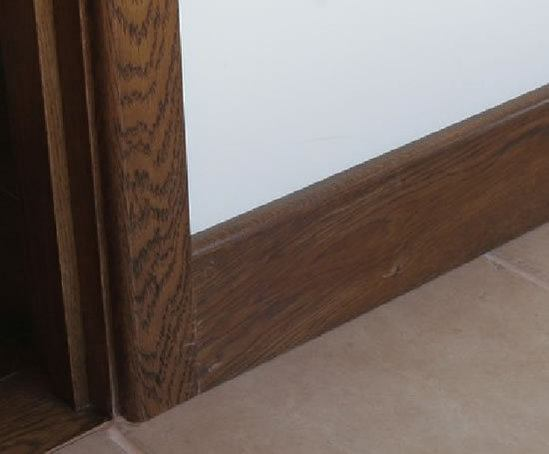 Oak skirting round wood of mayfield esi interior design for Wood skirting