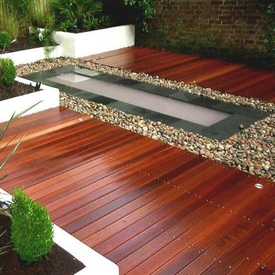 Balau smooth hardwood decking