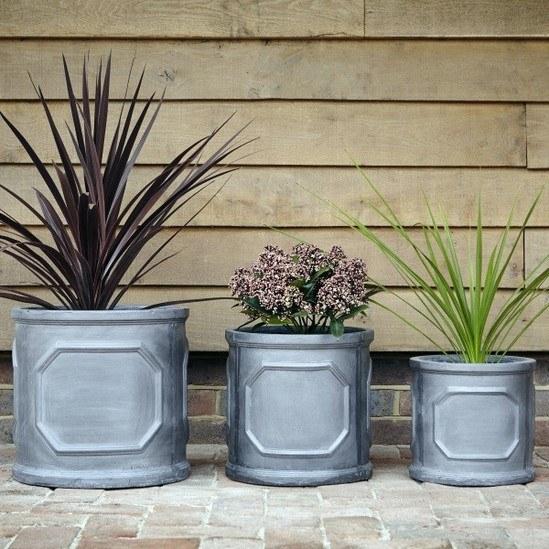 Large 1 Metre Wooden Garden Planter Box Trough Herb: Clayfibre Chelsea Box, Trough & Cylinder Garden Planters