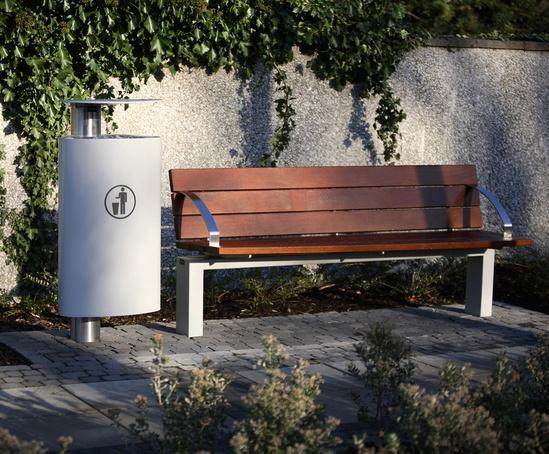 Omos s96w seat, t1 litter bin