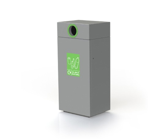 Omos s45 steel and aluminium recycling bin