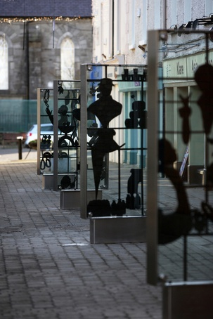 Sculpture Display Cases And Street Furniture Newbridge Omos Esi External Works