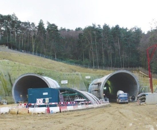 KerbDrain highway drainage system, Hindhead Tunnel