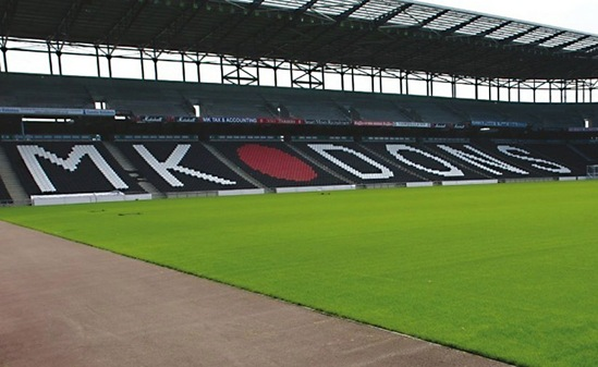 Channel drainage, MK Dons FC stadium