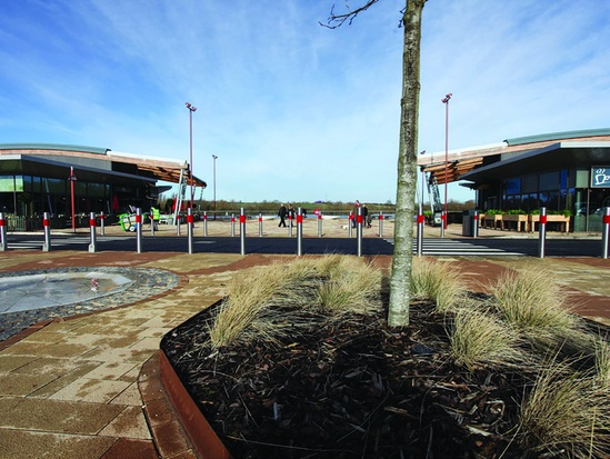 StormBrixx used in tree pits at Rushden Lakes