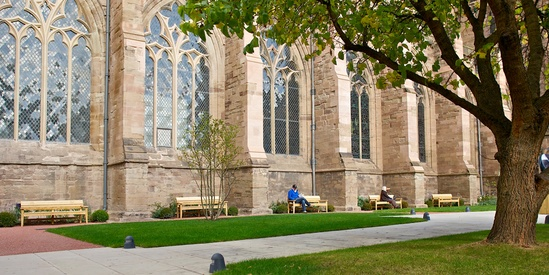 Chico benches at Hereford Cathedral